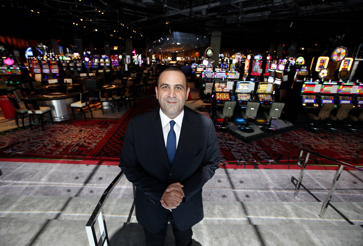 CEO Sam Nazarian poses in from of the newly renovated hotel at SLS Las Vegas on Thursday, Augus ...