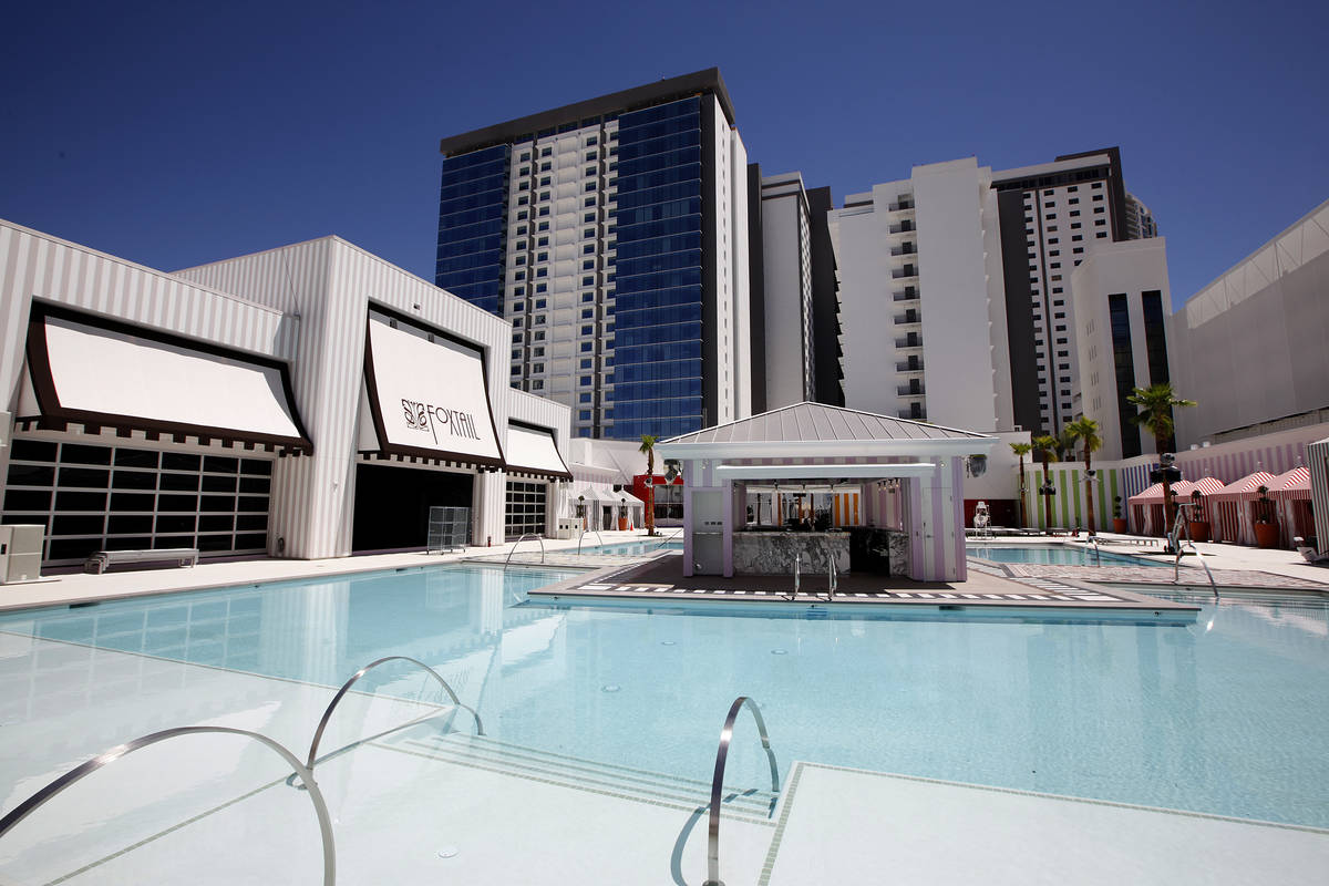 The pool at SLS in Las Vegas on Thursday, August 7, 2014. The SLS will open to the public on Au ...
