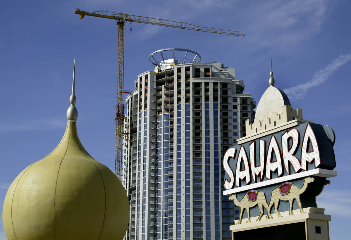 The Sahara hotel and casino is seen Monday, March 5, 2007. (Las Vegas Review-Journal)