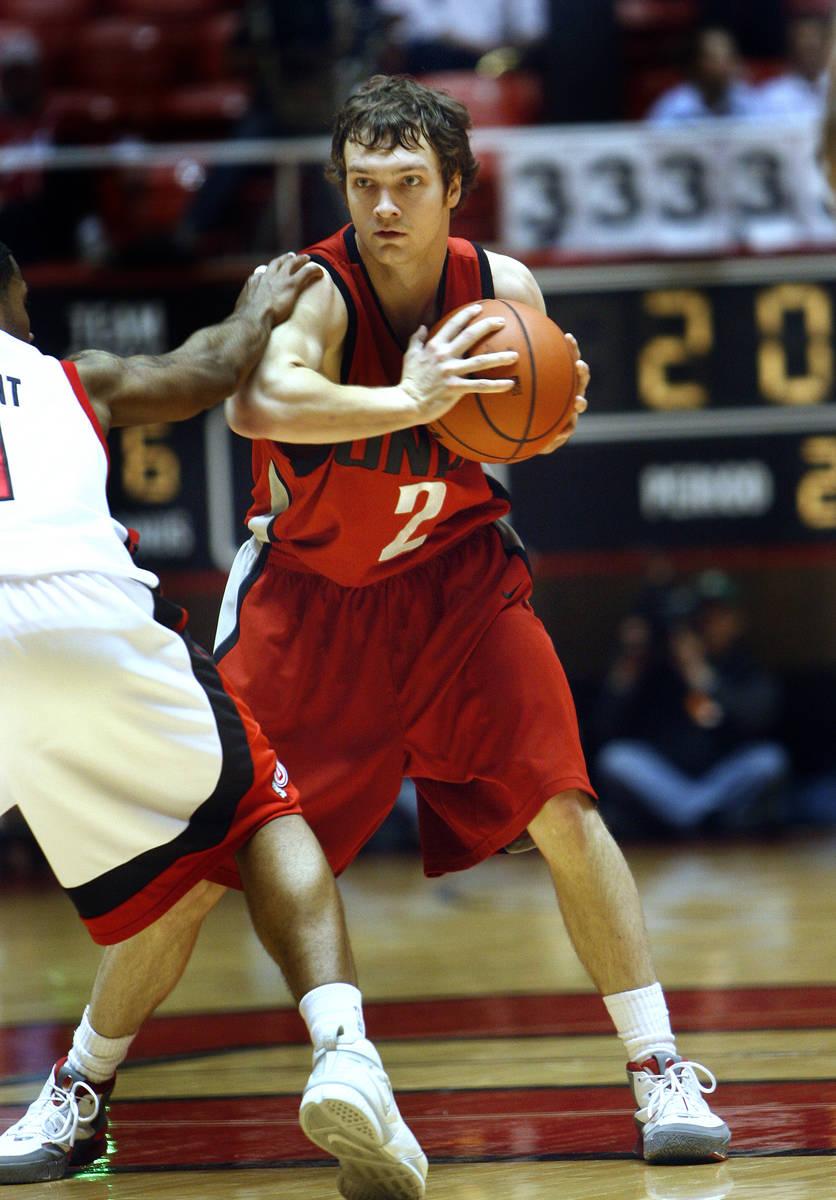 kevin Kruger brings the ball up coourt. UNLV's UNLV vs Utah basketball. Feb. 17, 2007. Phot ...