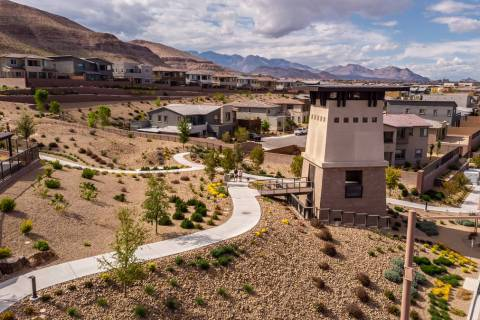 Low water-use landscapes are common throughout Summerlin, including The Cliffs village. (Summerlin)