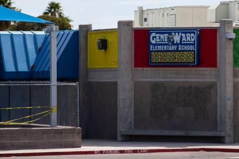 Gene Ward Elementary School in Las Vegas on Thursday, April 1, 2021. (Chase Stevens/Las Vegas R ...