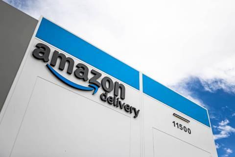 Amazon's facility at 11500 Bermuda Road on Thursday, April 1, 2021, in Henderson. (Benjamin Hag ...