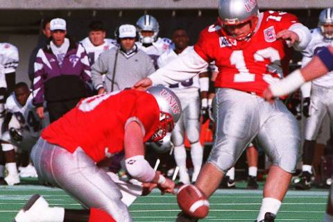 "Nick ""The Kick"" Garritano scored UNLV's only points against Kansas State with this field goal. ..."