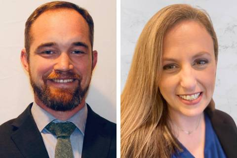 Christopher Peterson, left, and Jennifer Shomshor are joining the ACLU of Nevada as staff attor ...