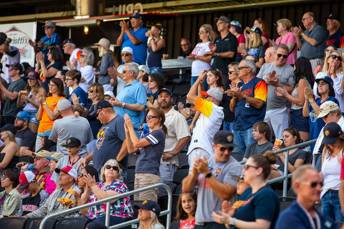 """Las Vegas Aviators fans have fun and enjoy their """"seventh inning stretch"""" as the team ..."""