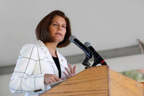 U. S. Sen. Catherine Cortez Masto, D-Nevada. (AP Photo/Rich Pedroncelli)