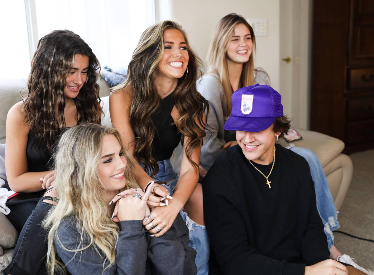 Social media influencers Gabriella Annalisa, 19, from top left, Jordan Beckham, 16, Kayla Patte ...