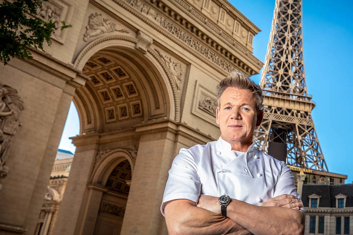 Gordon Ramsay, seen at Gordon Ramsay Steak at Paris Las Vegas. (Kabik/Retna Digital)