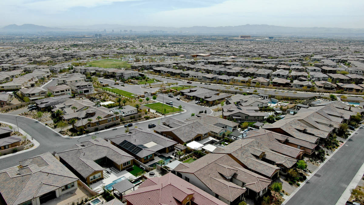 An aerial view of housing developments near Far Hills Avenue and the 215 Beltway in the Summerl ...