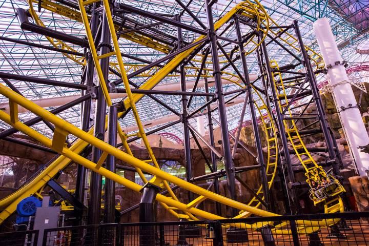 El Loco rollercoaster in the Adventuredome at Circus Circus in Las Vegas. (Chase Stevens/Las Ve ...