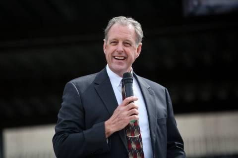 Mayor of North Las Vegas John Jay Lee, seen in 2019. Lee is rumored to be considering a run for ...