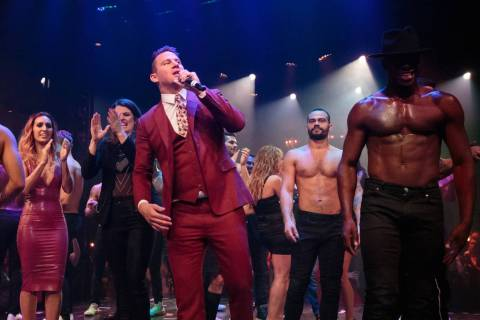 "Channing Tatum thanks the audience during the grand opening of ""Magic Mike Live"" at The Har ..."