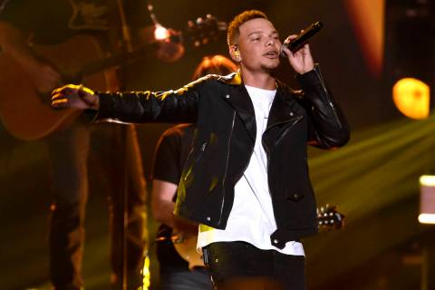 "In this Nov. 8, 2017, file photo, Kane Brown performs ""Heaven South"" at the 51st annual CMA Awa ..."
