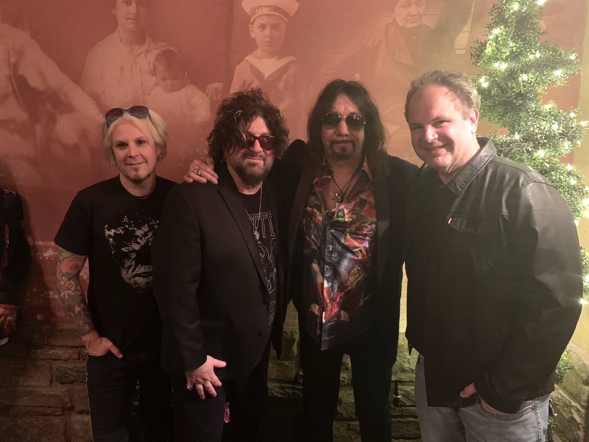 Guitarist John 5, studio operator and musician Ron Mancuso, Kiss co-founder Ace Frehley, and ro ...