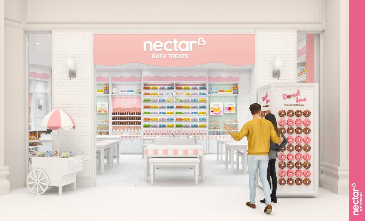 A rendering of the Nectar Bath Treats location planned to open this summer at Resorts World Las ...