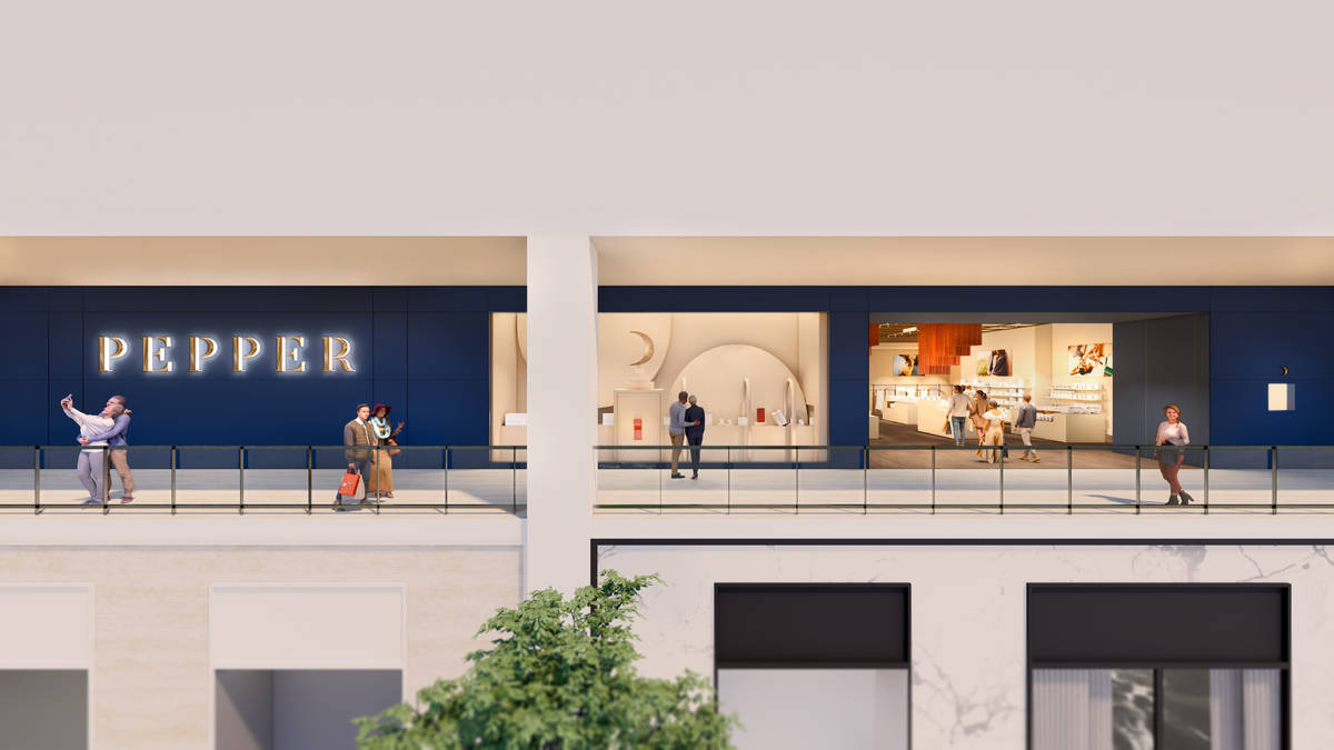 A rendering of the Pepper location planned to open this summer at Resorts World Las Vegas. (Res ...