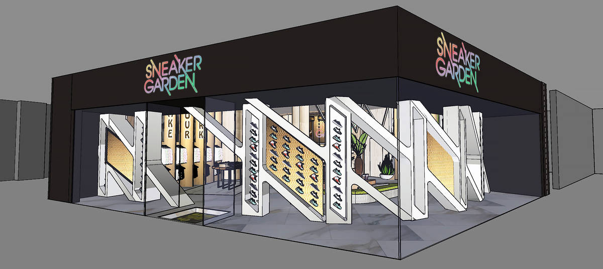 A rendering of the Sneaker Garden location planned to open this summer at Resorts World Las Veg ...