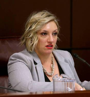 Sen. Nicole Cannizzaro presides during a Judiciary Committee meeting in February 2019. (K.M. Ca ...