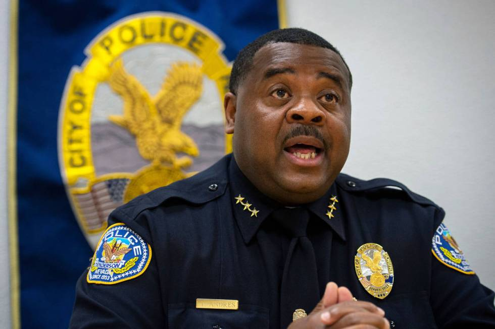 Henderson Police Department Acting Chief Thedrick Andres defended his department's disciplinary ...