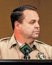 Metro Assistant Sheriff Chris Jones said arbitration reinstated some fired officers. (Chase Ste ...