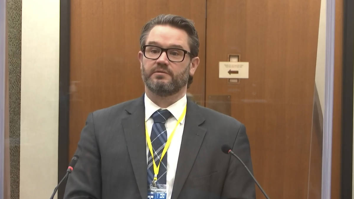 FILE-In this image from video, defense attorney Eric Nelson questions Dr. Lindsey Thomas, a for ...