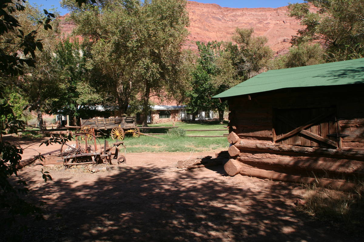 The 160-acre Lonely Dell Historic Ranch has been maintained by the National Park Service since ...