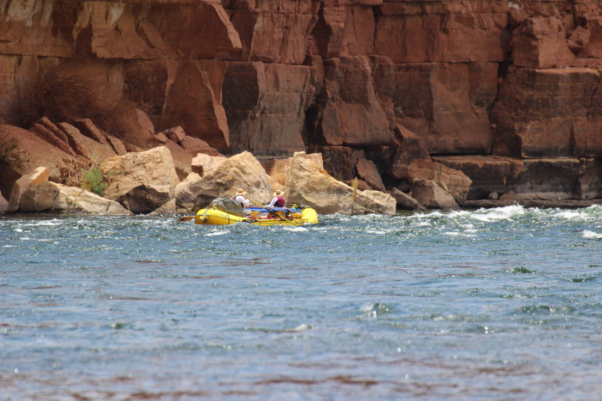 Lees Ferry is the launching place for rafters heading down the Colorado River through the Grand ...