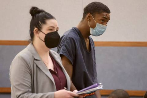 Kevin Osborne appears in court at the Regional Justice Center in Las Vegas Tuesday, April 13, 2 ...
