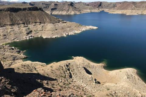 The light-colored ring along the shoreline of Lake Mead is a powerful reminder of the long-term ...
