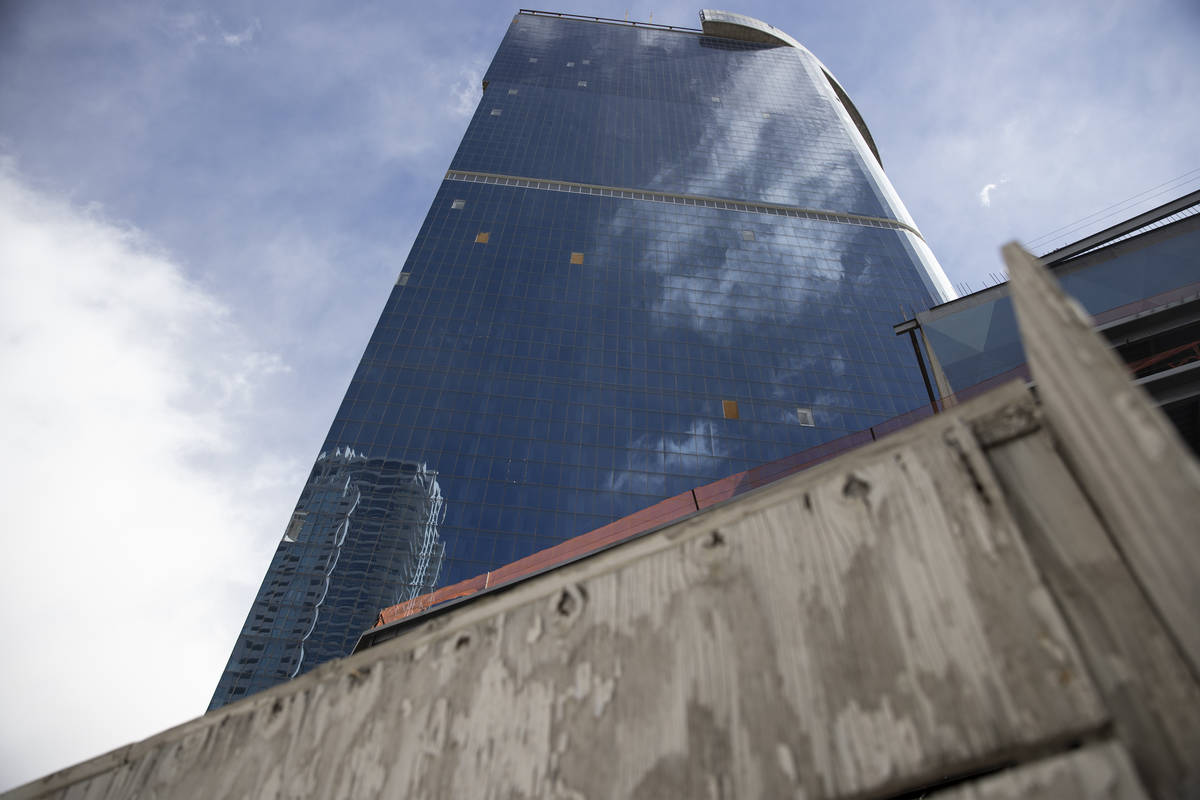 The unfinished former Fontainebleau on the Las Vegas Strip is seen Wednesday, Feb. 17, 2021. (E ...