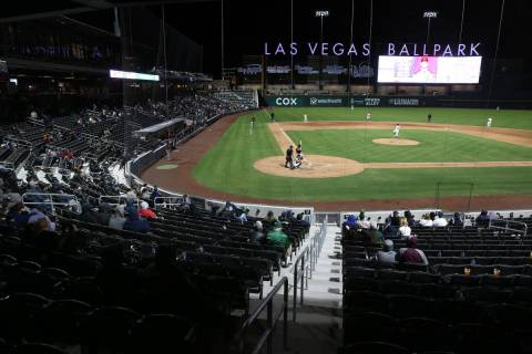 Opening night for the Las Vegas Aviators at Las Vegas Ballpark at Downtown Summerlin on Tuesday ...