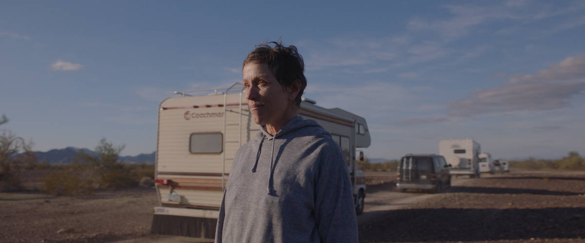 Acting nominee Frances McDormand portrays a Nevadan picking up seasonal jobs as a modern-day no ...