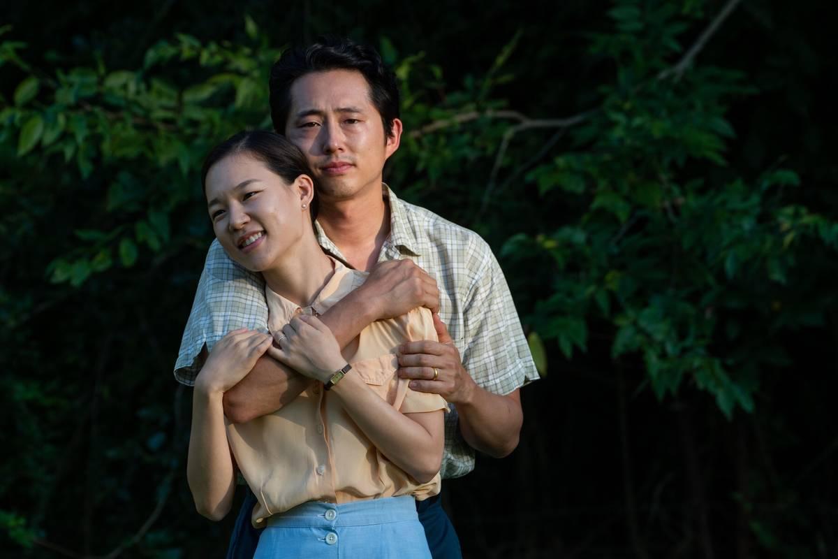 "Acting nominee Steven Yeun stars with Yeri Han in the Korean-American family drama ""Minari."" (A24)"