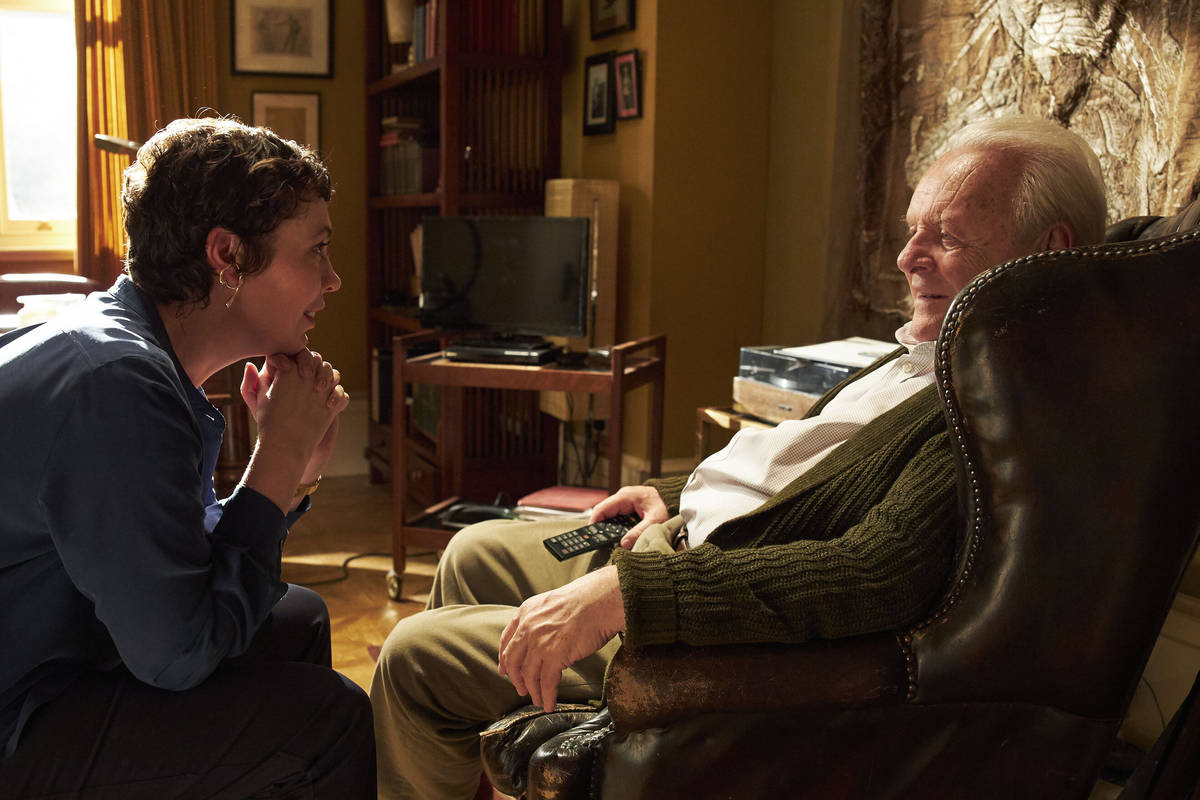 """Acting nominees Olivia Colman and Anthony Hopkins star in the dementia character study """"The Fat ..."""