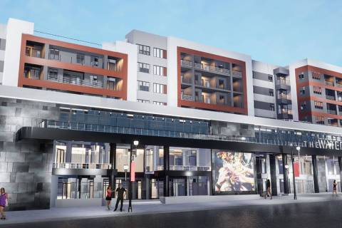 The Watermark has begun construction in the Water Street District in downtown Henderson. (The W ...