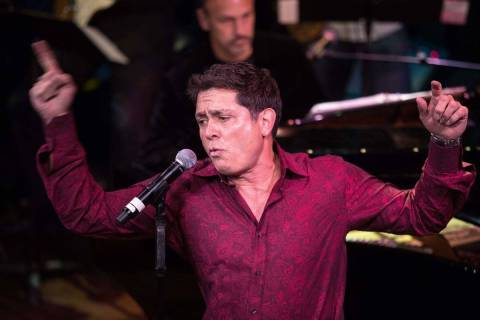 Keith Thompson performs during the Composers Showcase of Las Vegas at Cabaret Jazz inside The S ...