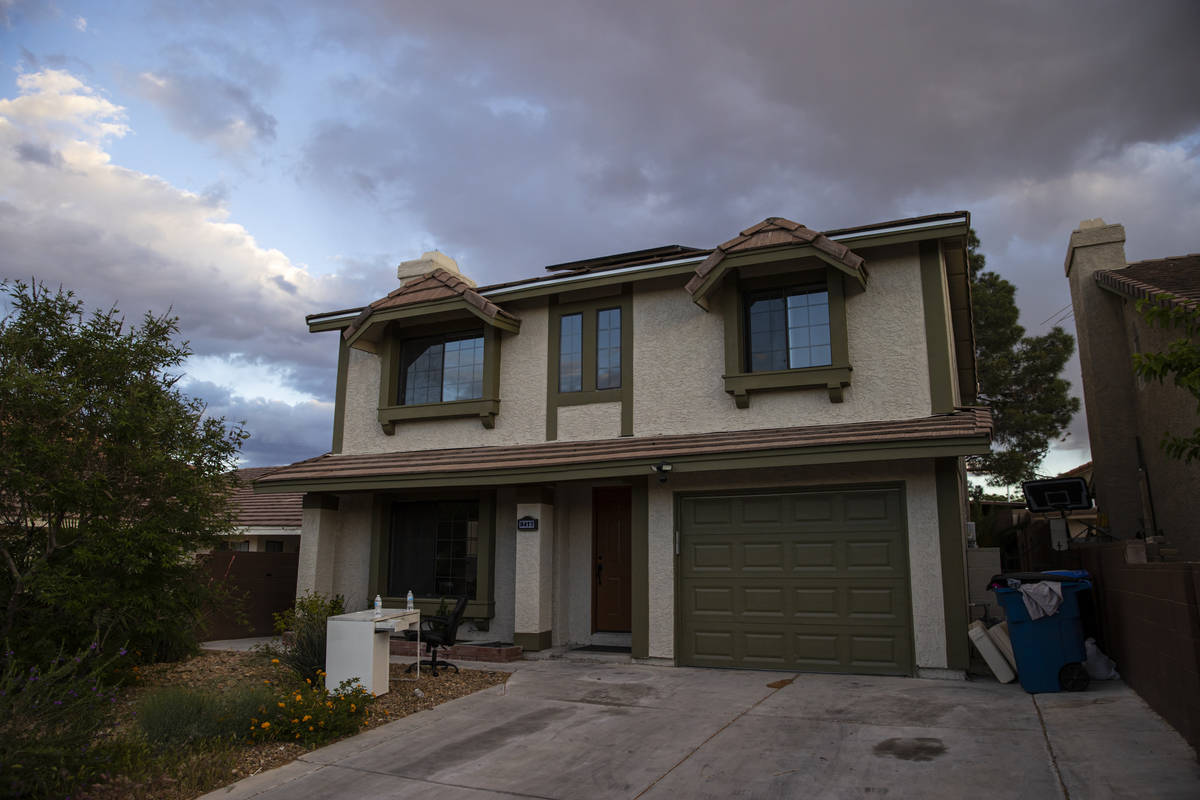 The Las Vegas home where the burned body of Daniel Halseth was found is pictured on Monday, Apr ...
