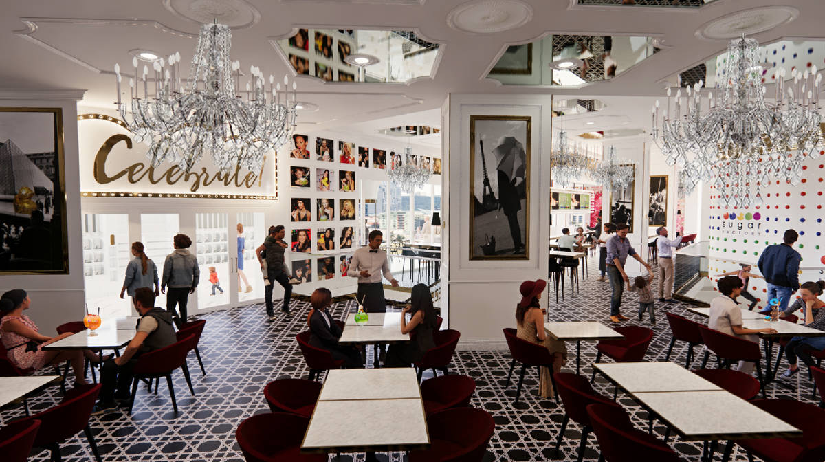 Sugar Factory has announced plans to open a location in Harmon Corner on the Strip, a rendering ...