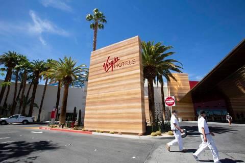Virgin Hotels Las Vegas on Friday, April 30, 2021, in Las Vegas. (Ellen Schmidt/Las Vegas Revie ...