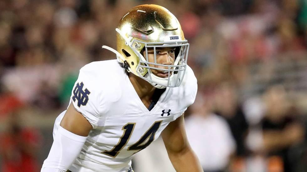 Notre Dame defensive back Kyle Hamilton during an NCAA football game on Monday, Sept. 2 , 2019 ...