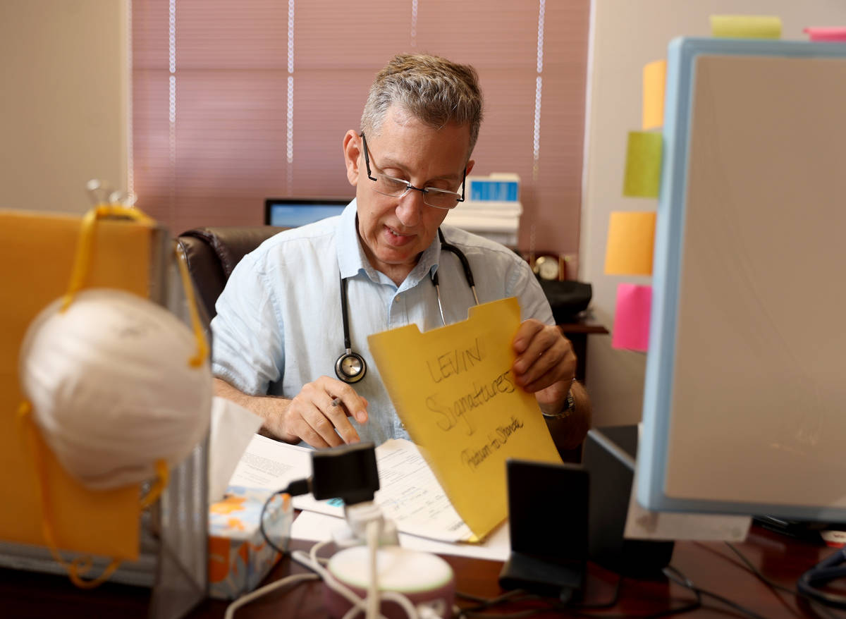 Henderson pediatrician Dr. Michael Levin at his office Monday, May 3, 2021. Levin is a principa ...