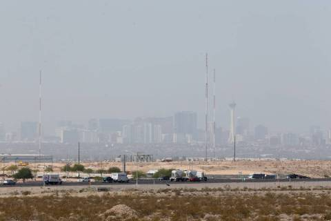The Strip from North Las Vegas. (Erik Verduzco/Las Vegas Review-Journal) @Erik_Verduzco