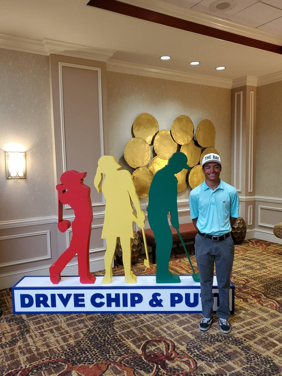 Reflection Bay's High Performance Golf Institute student Nicholas Kilgore was the runner-up i ...