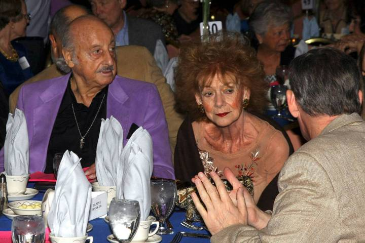 Sports bettor and TV personality Lem Banker and his wife, Debbie, are shown on Oct. 19, 2008, a ...