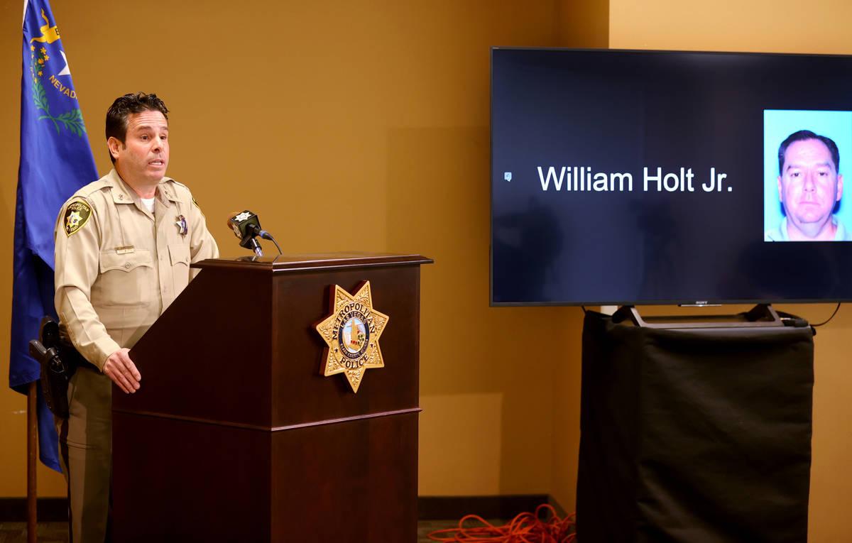 Metropolitan Police Department Assistant Sheriff Brett Zimmerman shows a photo of suspect Willi ...