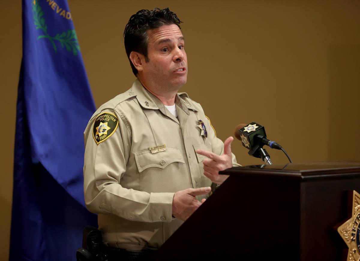 Metropolitan Police Department Assistant Sheriff Brett Zimmerman at Metro headquarters in Las V ...