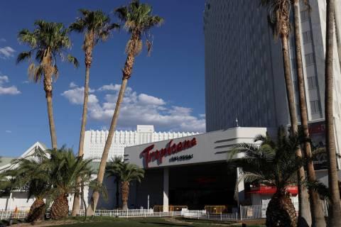 Tropicana hotel-casino in Las Vegas, Monday, July 27, 2020. (Erik Verduzco/Las Vegas Review-Jou ...