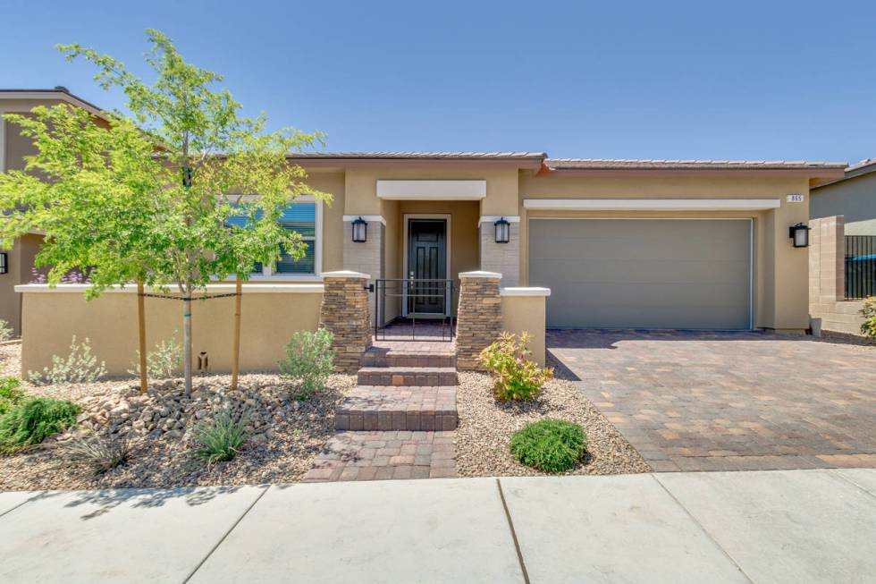 The front exterior at 865 Haven Oaks Place in Summerlin. (Rocket Lister)