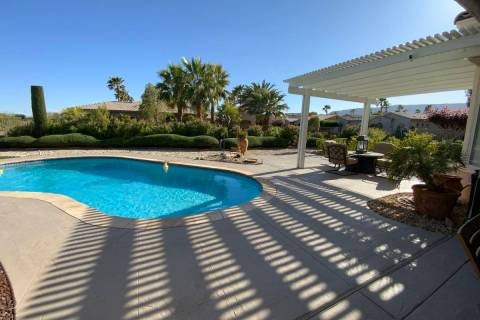 The pool and patio at 10473 Acclamato Ave. in Las Vegas (Jason Almeida)